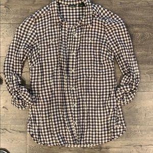 Eddie Bauer Gingham Button Down Shirt- Size S